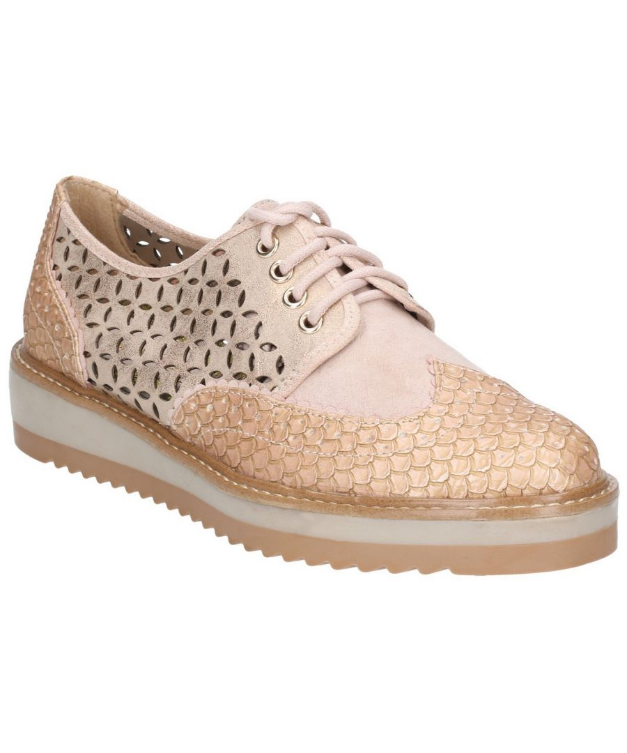 Image for Davina Chunky Soled Lace Up Brogue Shoe