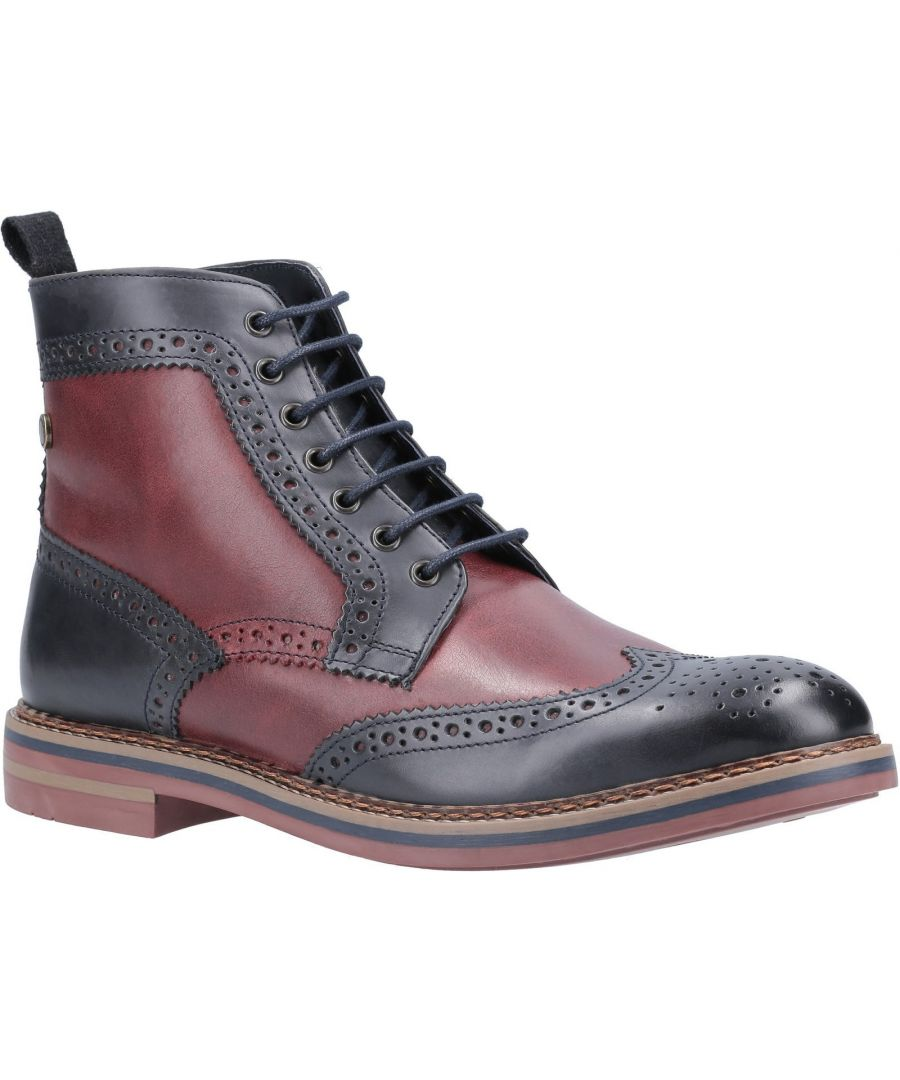 Image for Banner Burnished Lace Up Brogue Boot
