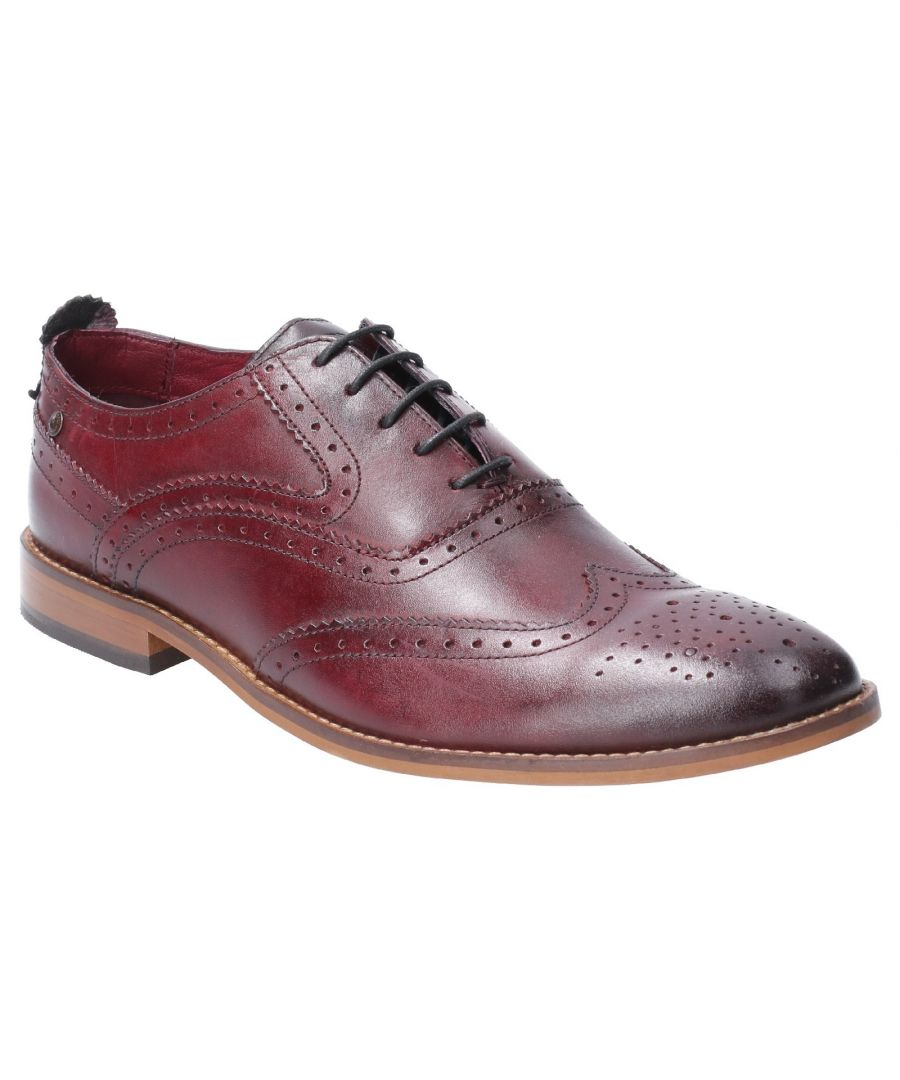 Image for Focus Washed Lace Up Brogue Shoe