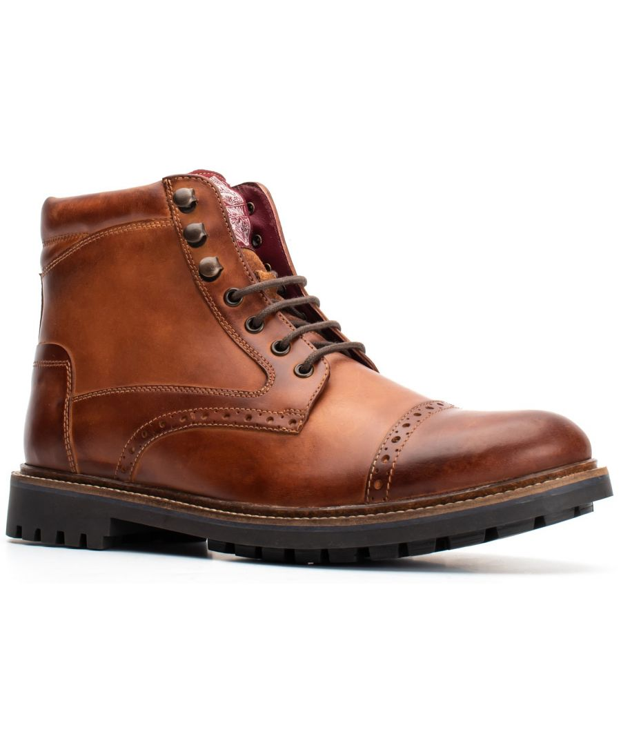 Image for Quail Burnished Lace Up Brogue Boot