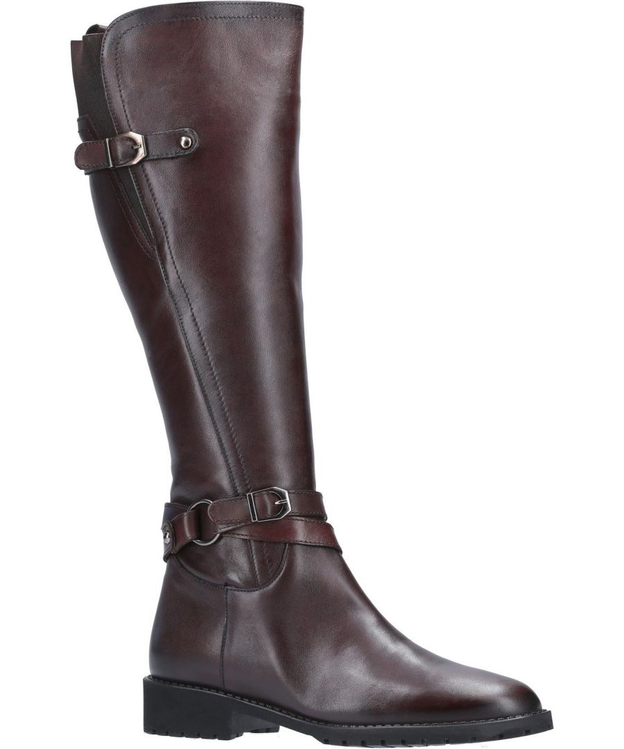 Image for Athens Leather Long Buckle Zip Boot