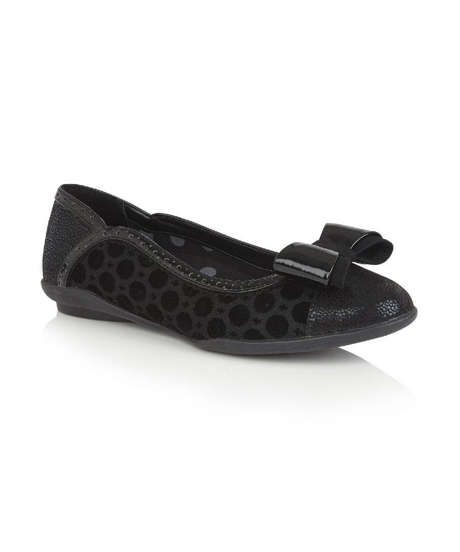 Image for Amber Slip on Padded Ballerina Pump Shoe