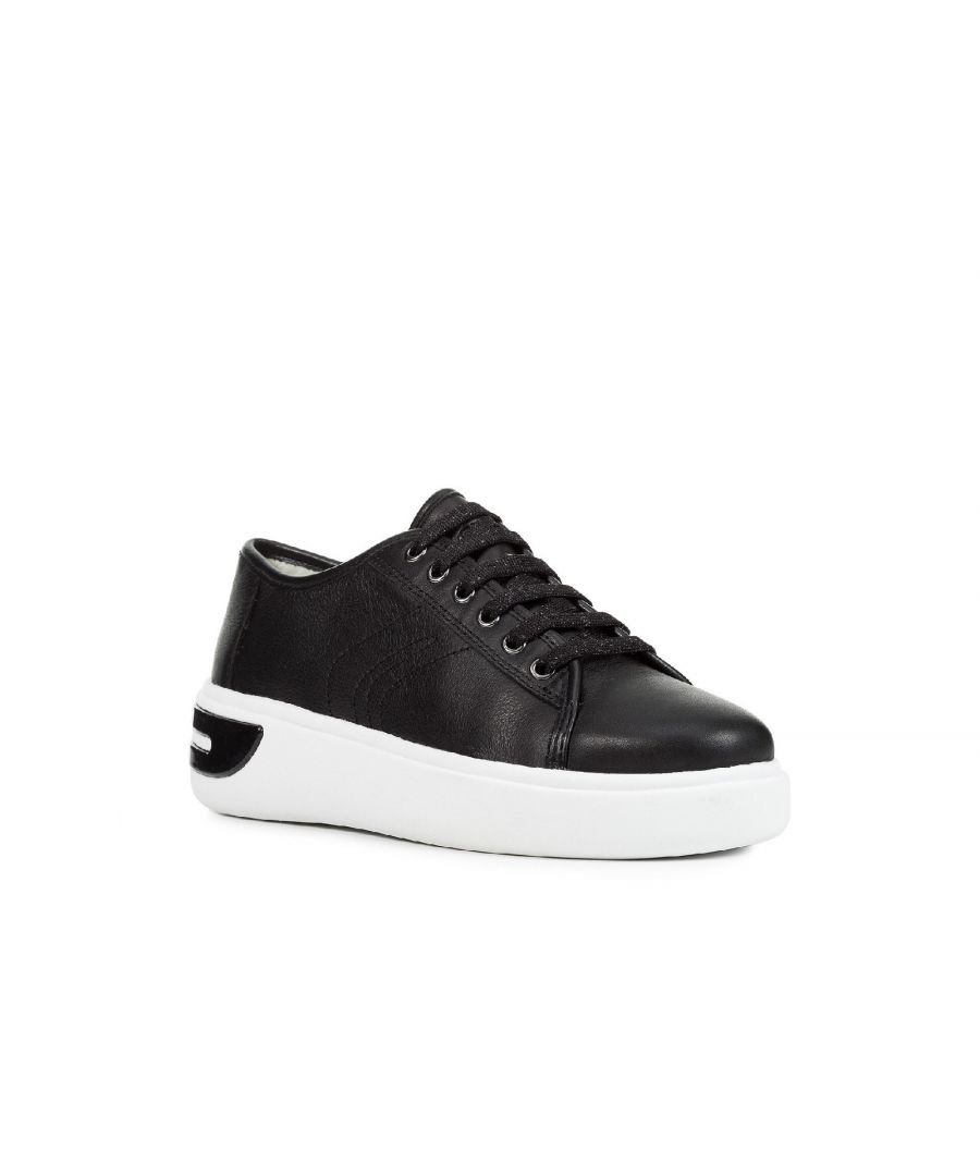 Image for D Ottaya A Lace Up Leather Trainers