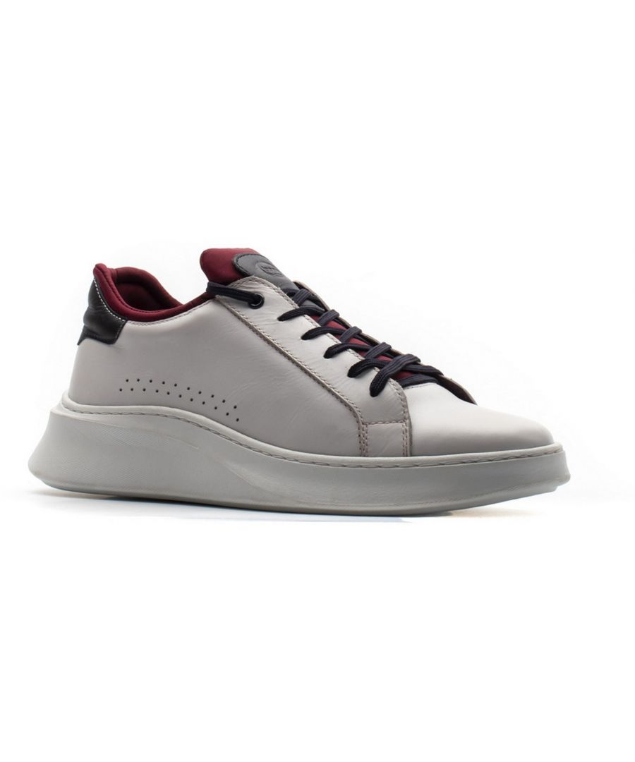Image for Crescent Waxy Lace Up Trainer