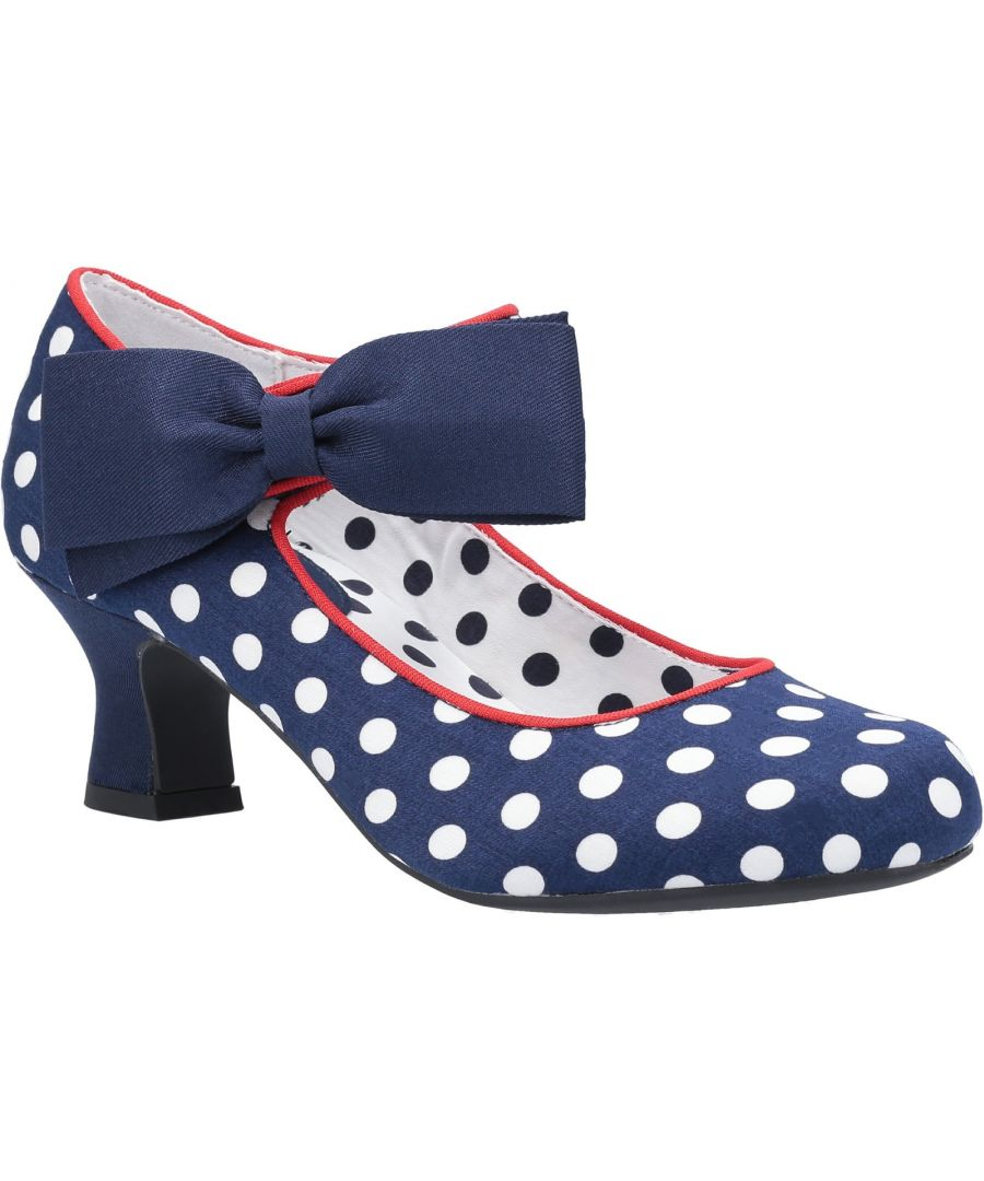 Image for Trixie Bow Trimmed Low Heeled Bar Shoe