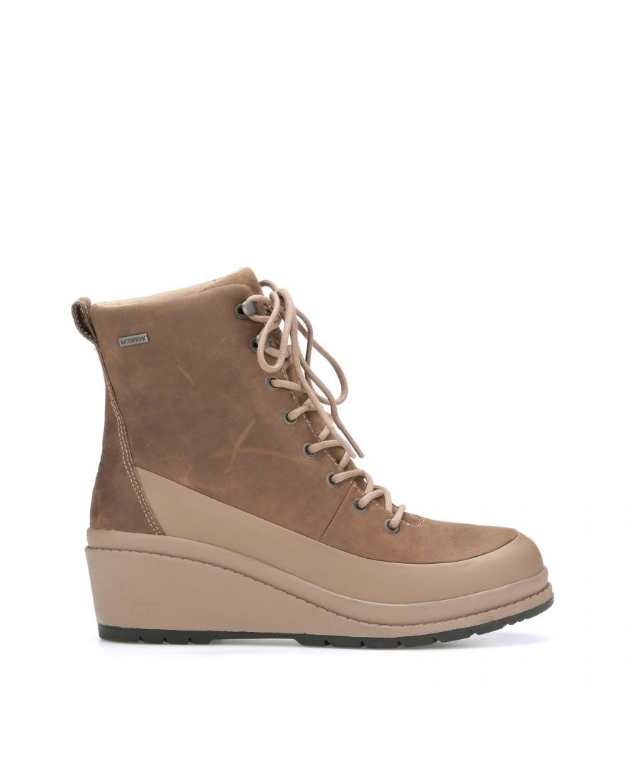 Image for Liberty Leather Wedge Ankle Boots