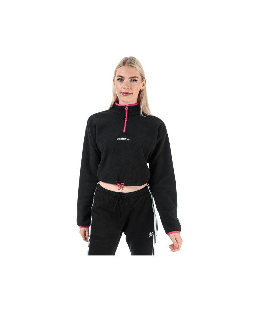 Image for Women's adidas Originals Polar Fleece Crop Top in Black