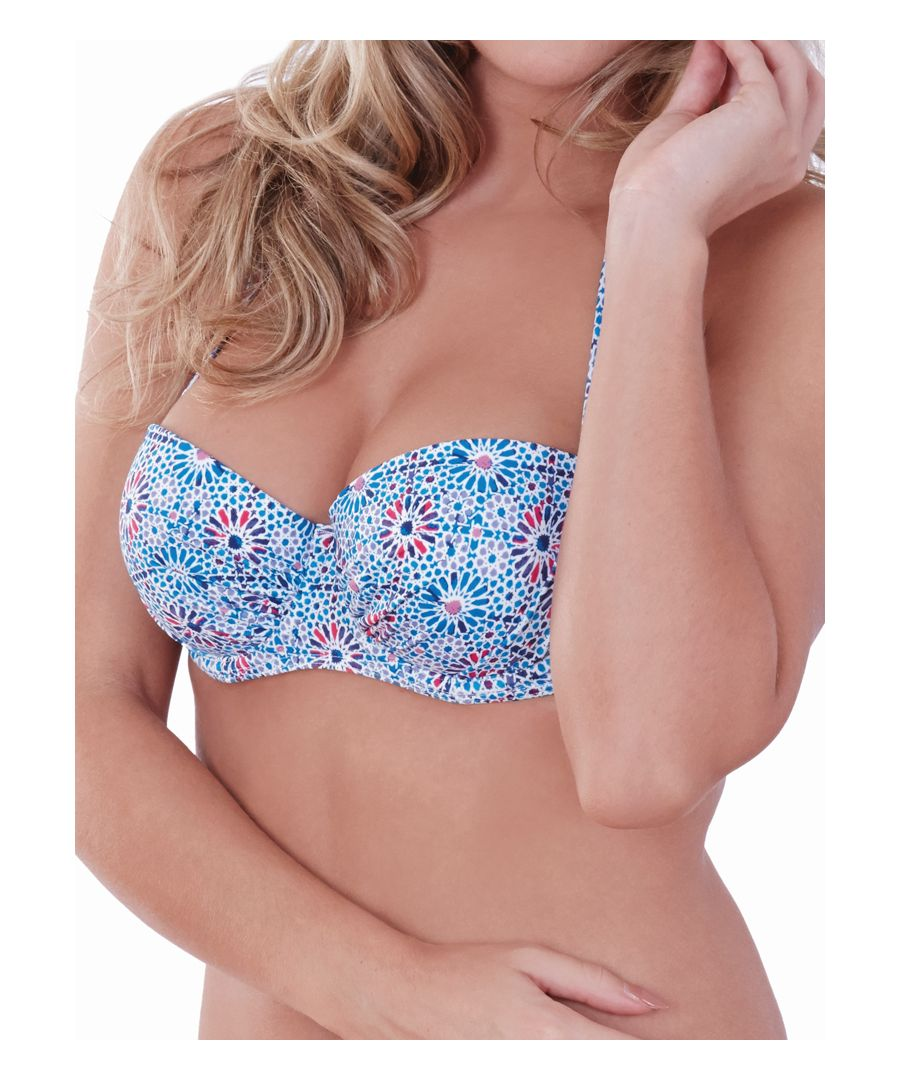 Image for Geo Star Strapless/Halter Bikini Top
