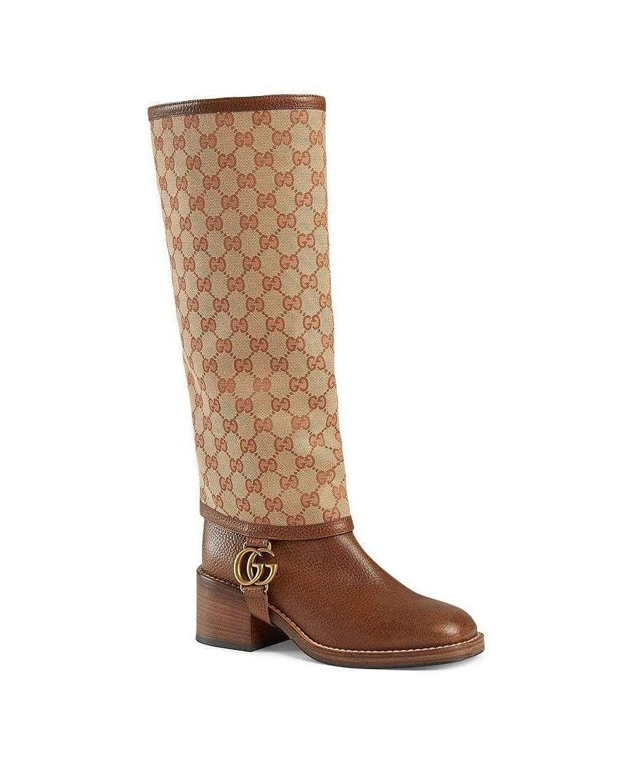 Image for Gucci GG Gaiter Leather Boots