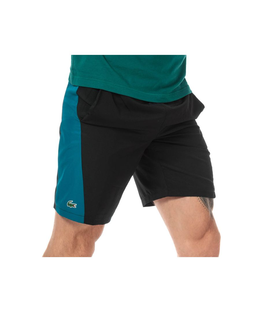 Image for Men's Lacoste Signature Bands Bicolour Shorts in Black