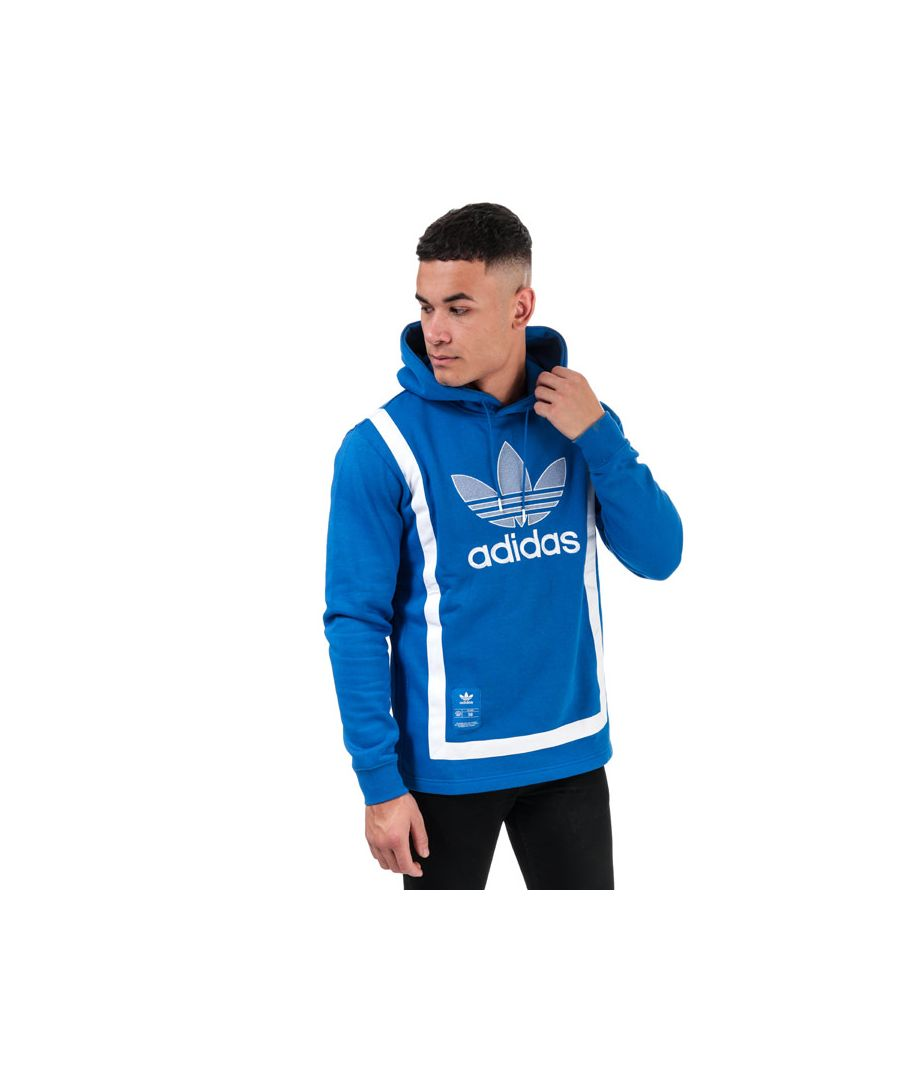 Image for Men's adidas Originals Warm-Up Hoody in Blue-White