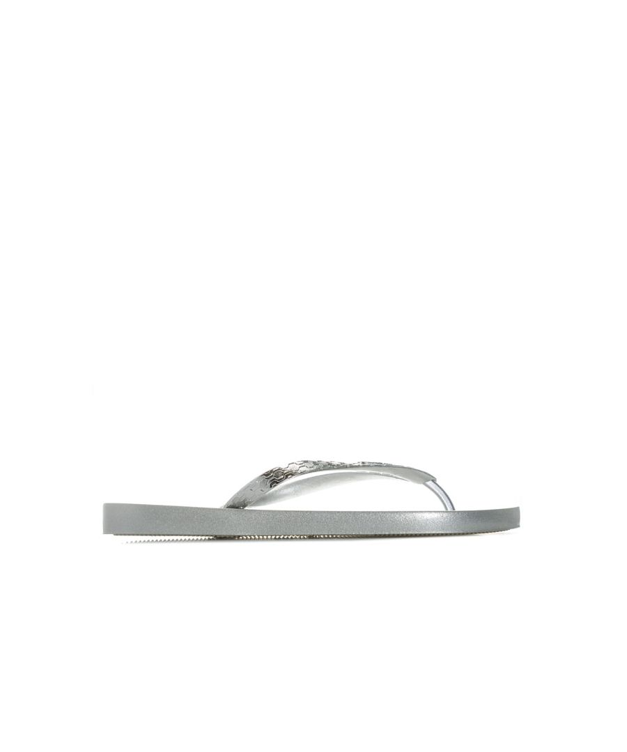 Image for Women's Ipanema Glam Flip Flops in Silver