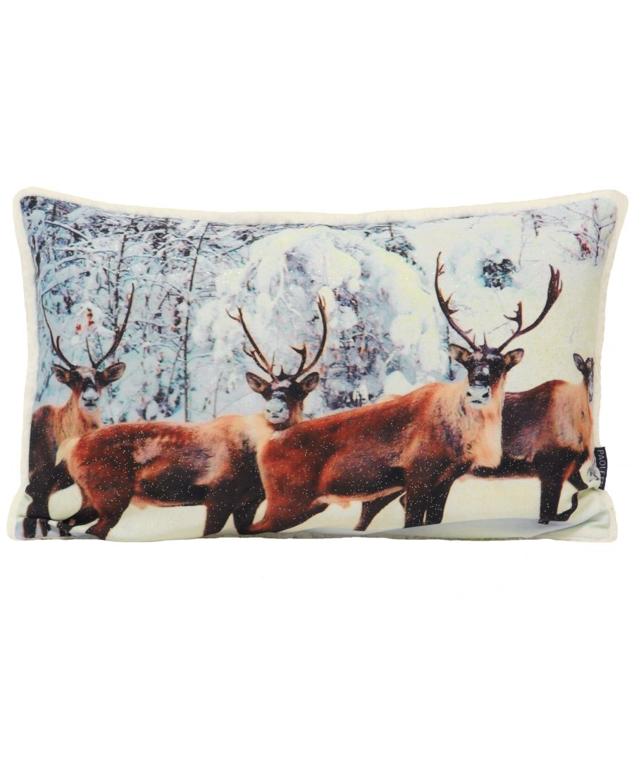 Image for Glitter Stag Polyester Filled Cushion