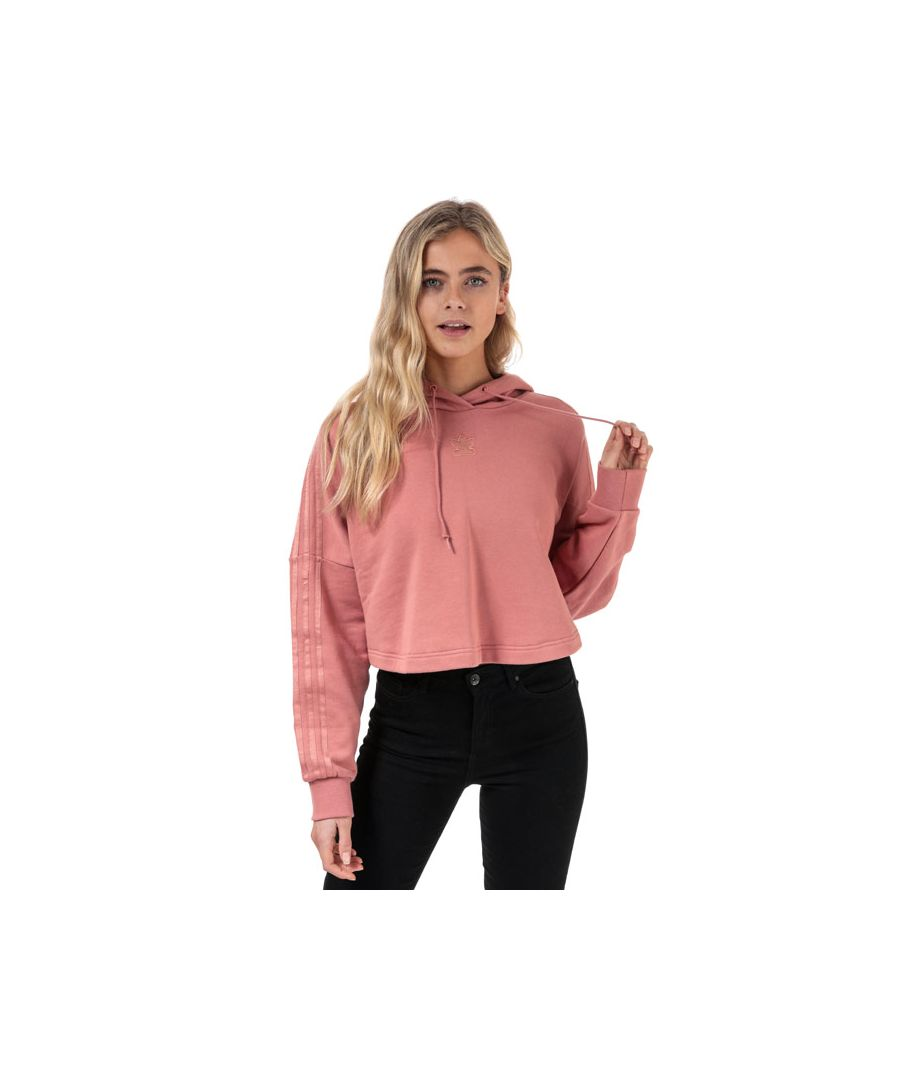 Image for Women's adidas Originals Cropped Hoody in Dusky Pink