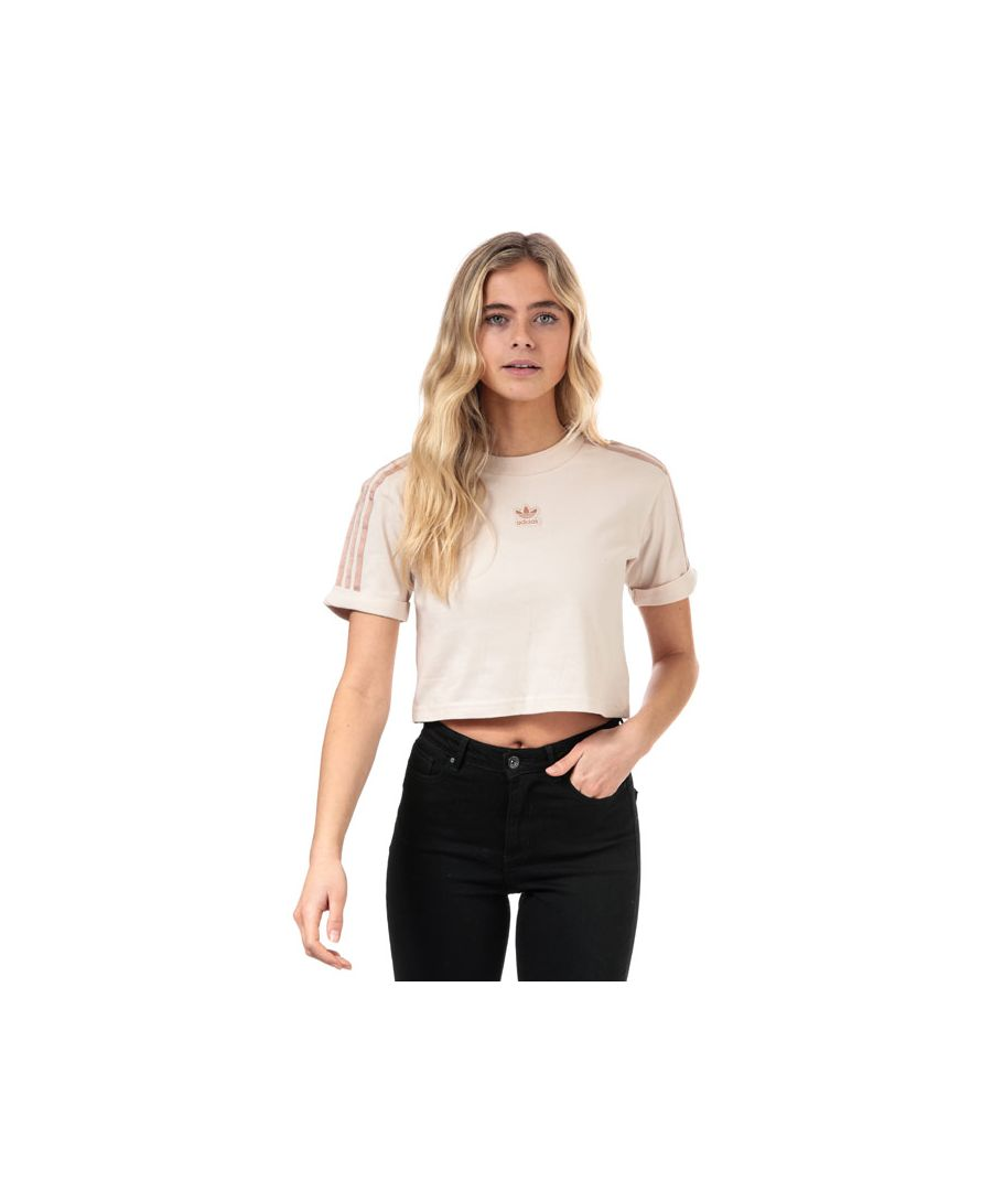 Image for Women's adidas Originals Cropped T-Shirt in Natural