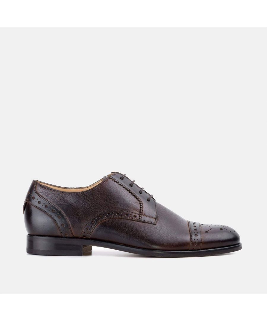 Image for Goodwin Smith Mens Kingsley Brown Derby Brogue