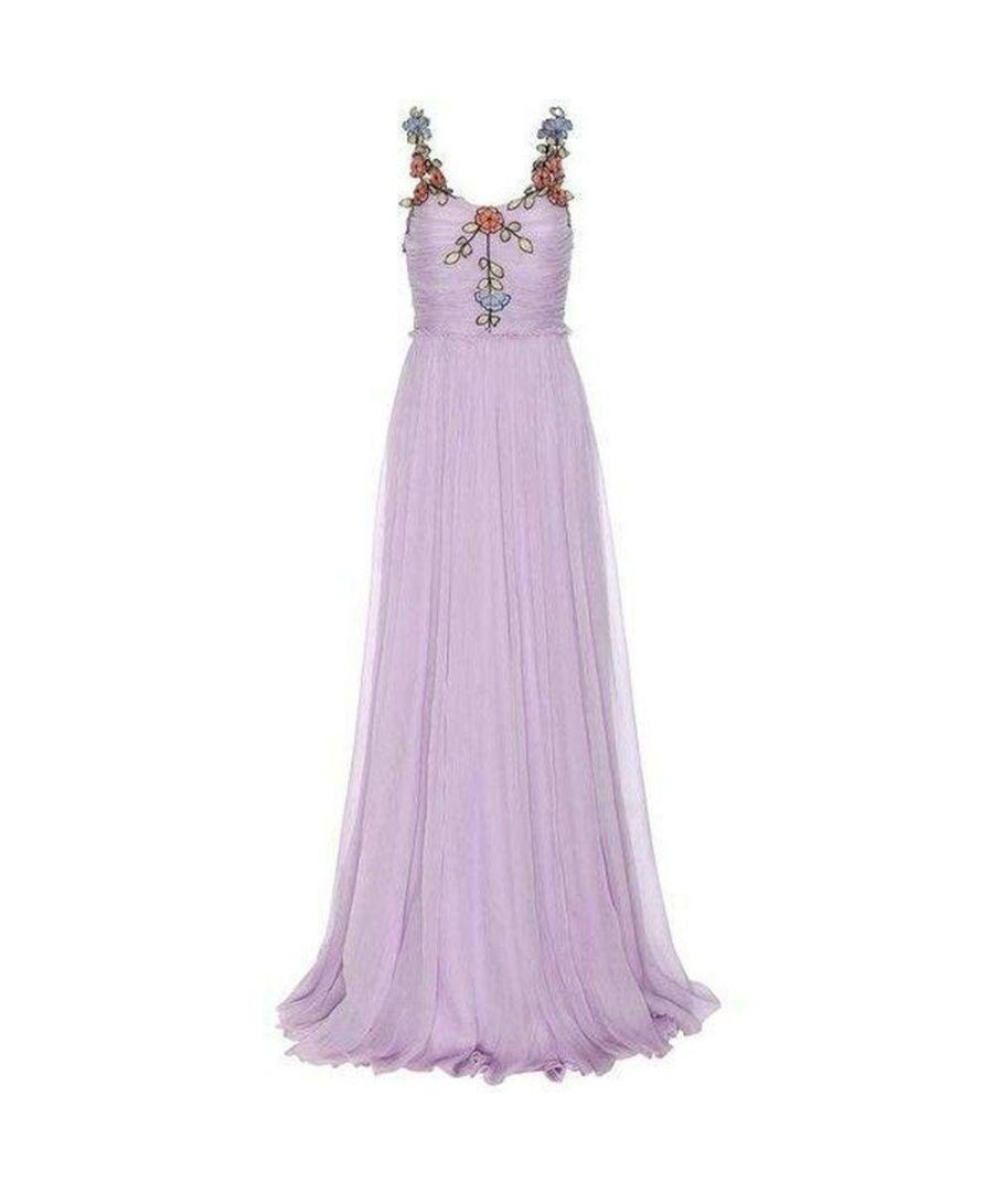 Image for Gucci Purple Silk Chiffon Embroidered Gown