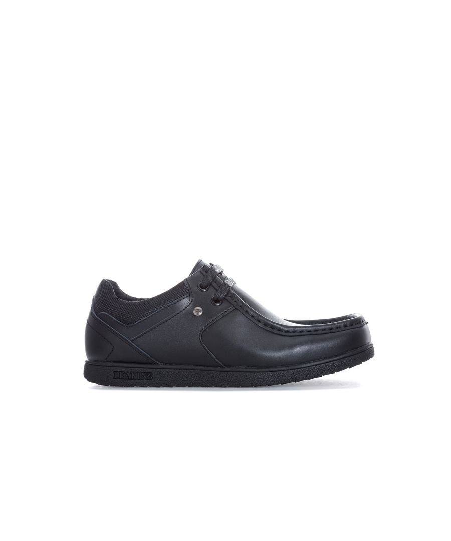 Image for Boy's Deakins Junior Grafton Lace Shoe in Black