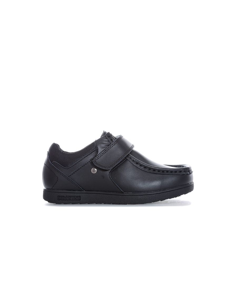 Image for Boy's Deakins Children Grafton Strap Shoe in Black