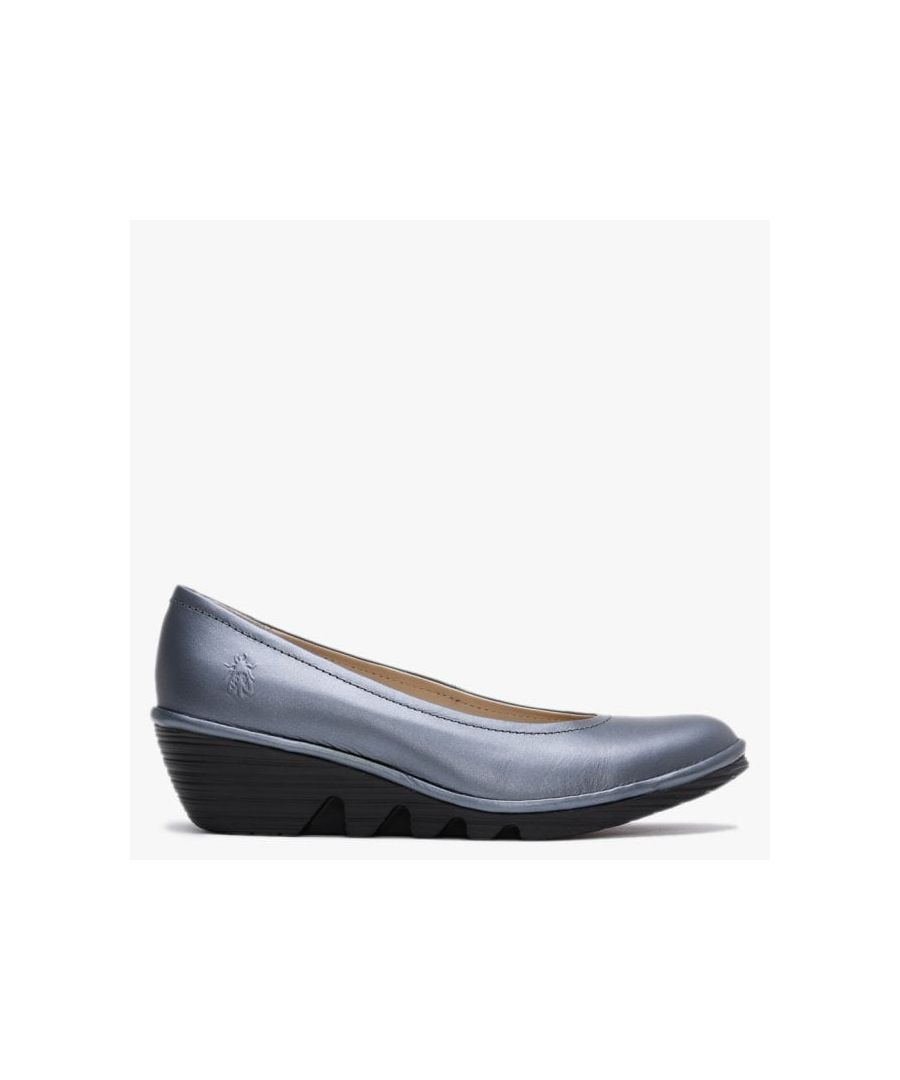 Image for Fly London Leather Wedge Pumps