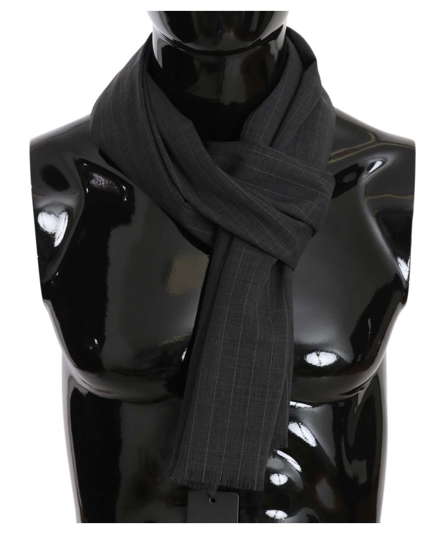 Image for Dolce & Gabbana Gray Wool White Lining Mens Scarf