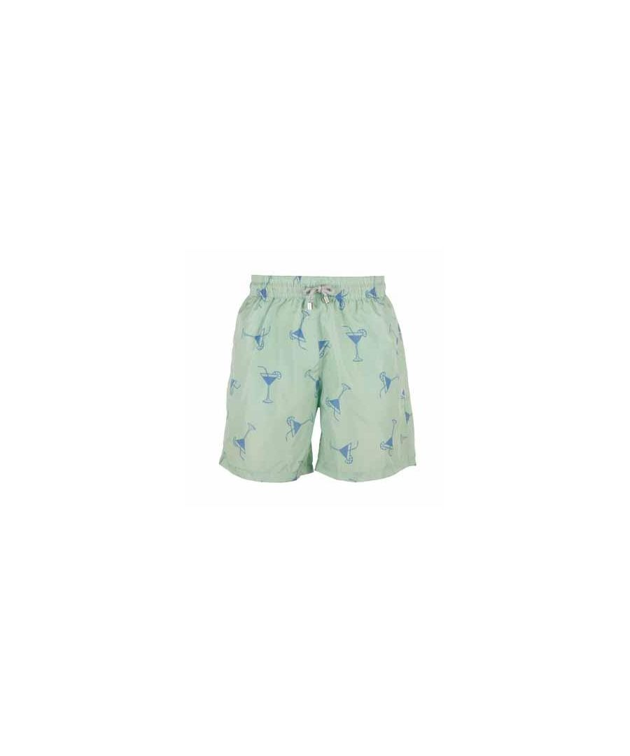 Image for Men's Green Cocktails Swim Shorts