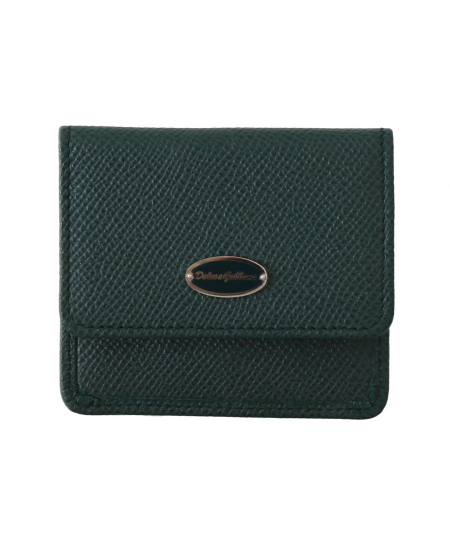 Image for Dolce & Gabbana Green Dauphine Leather Case Holder