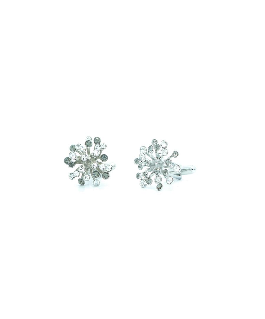 Image for Grey Swarovski Crystal Flower