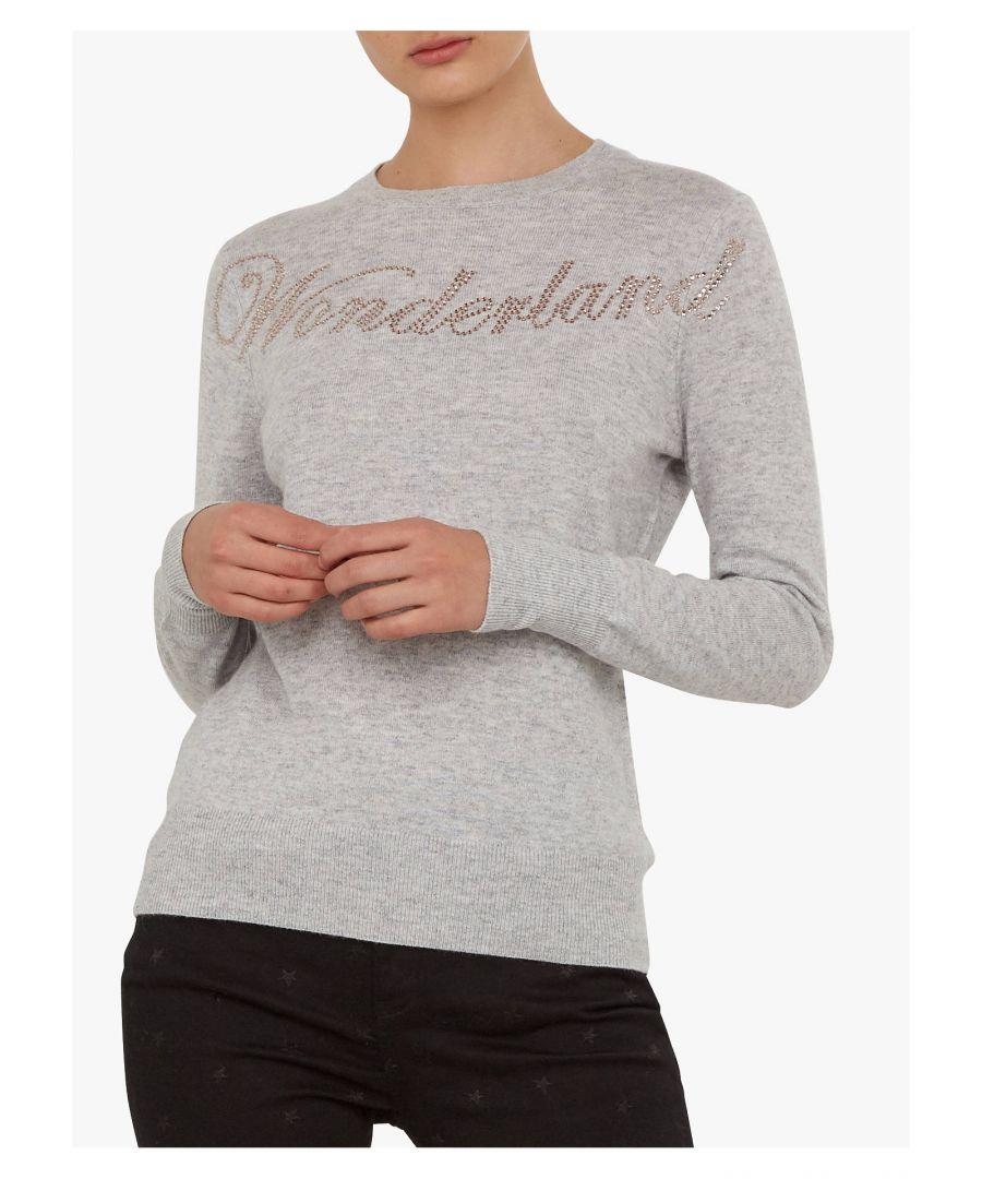 Image for Ted Baker Sabbia Wonderland Hotfix Jumper, Grey