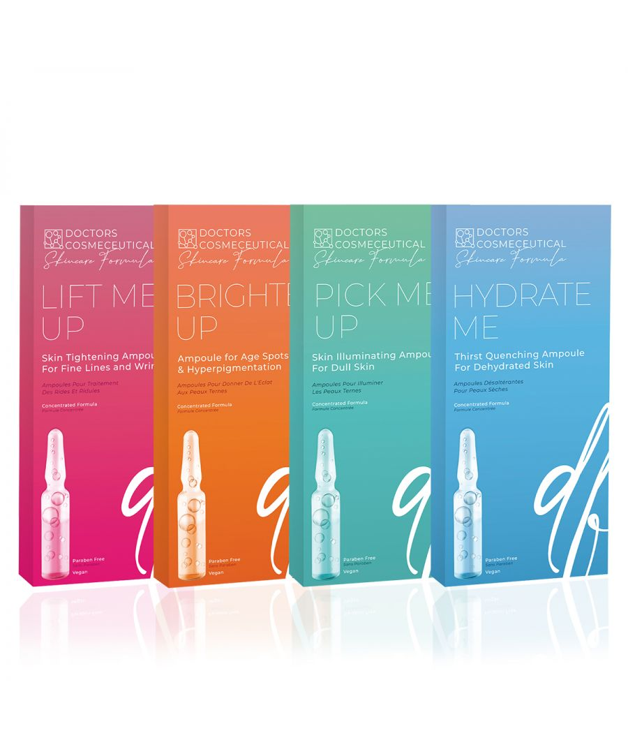 Image for Doctors Formula - 28 days treatment with Ampoules - Brighten Up - Lift Me Up - Pick Me Up- Hydrate Me -