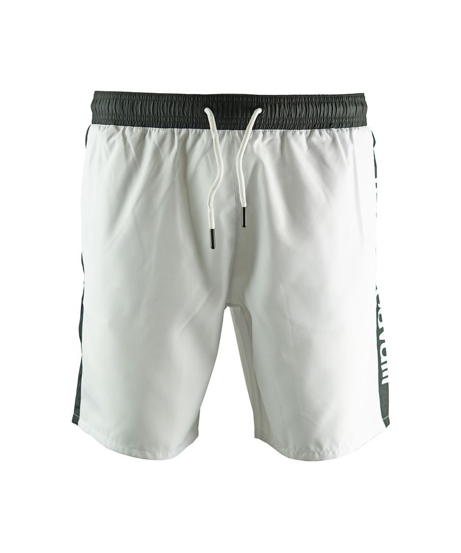Image for Roberto Cavalli Logo White Beachwear Swim Shorts