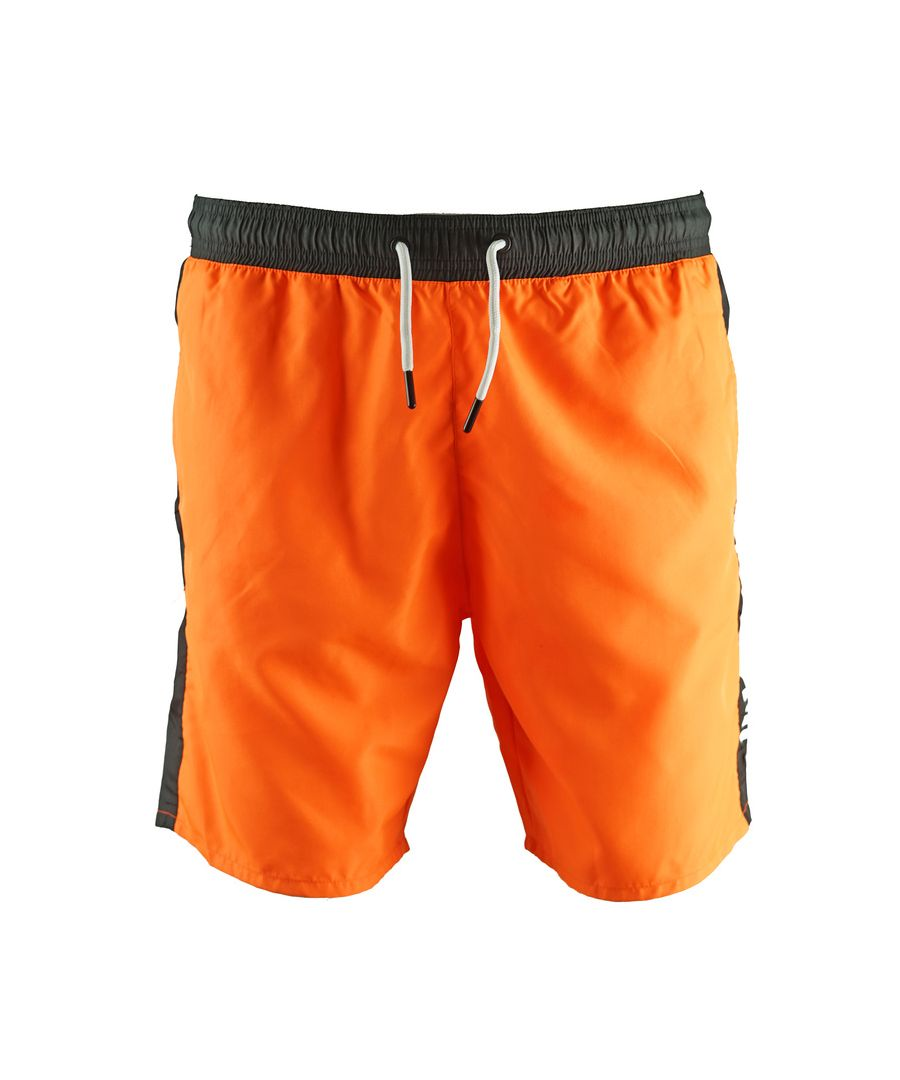 Image for Roberto Cavalli Logo Orange Beachwear Swim Shorts