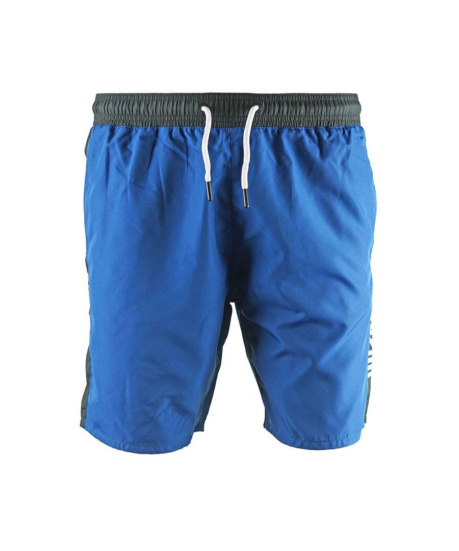 Image for Roberto Cavalli Logo Blue Beachwear Swim Shorts
