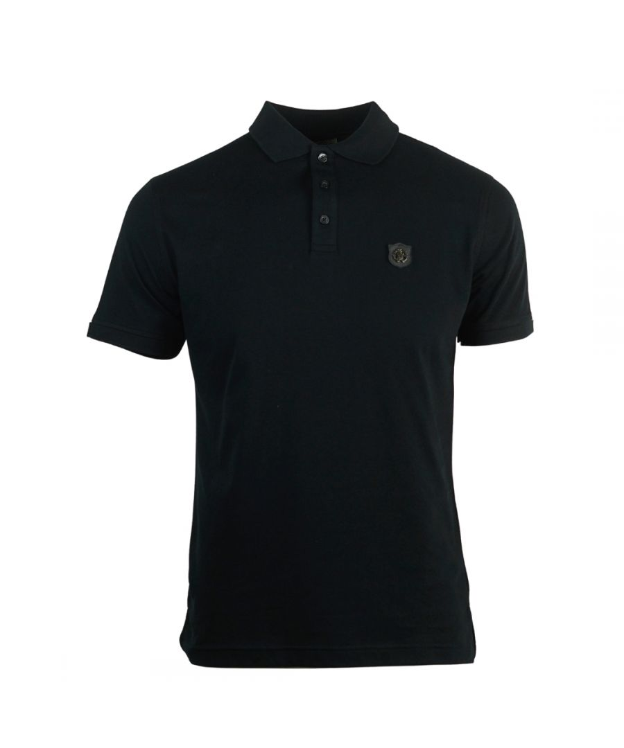Image for Roberto Cavalli Plaque Logo Black Polo Shirt