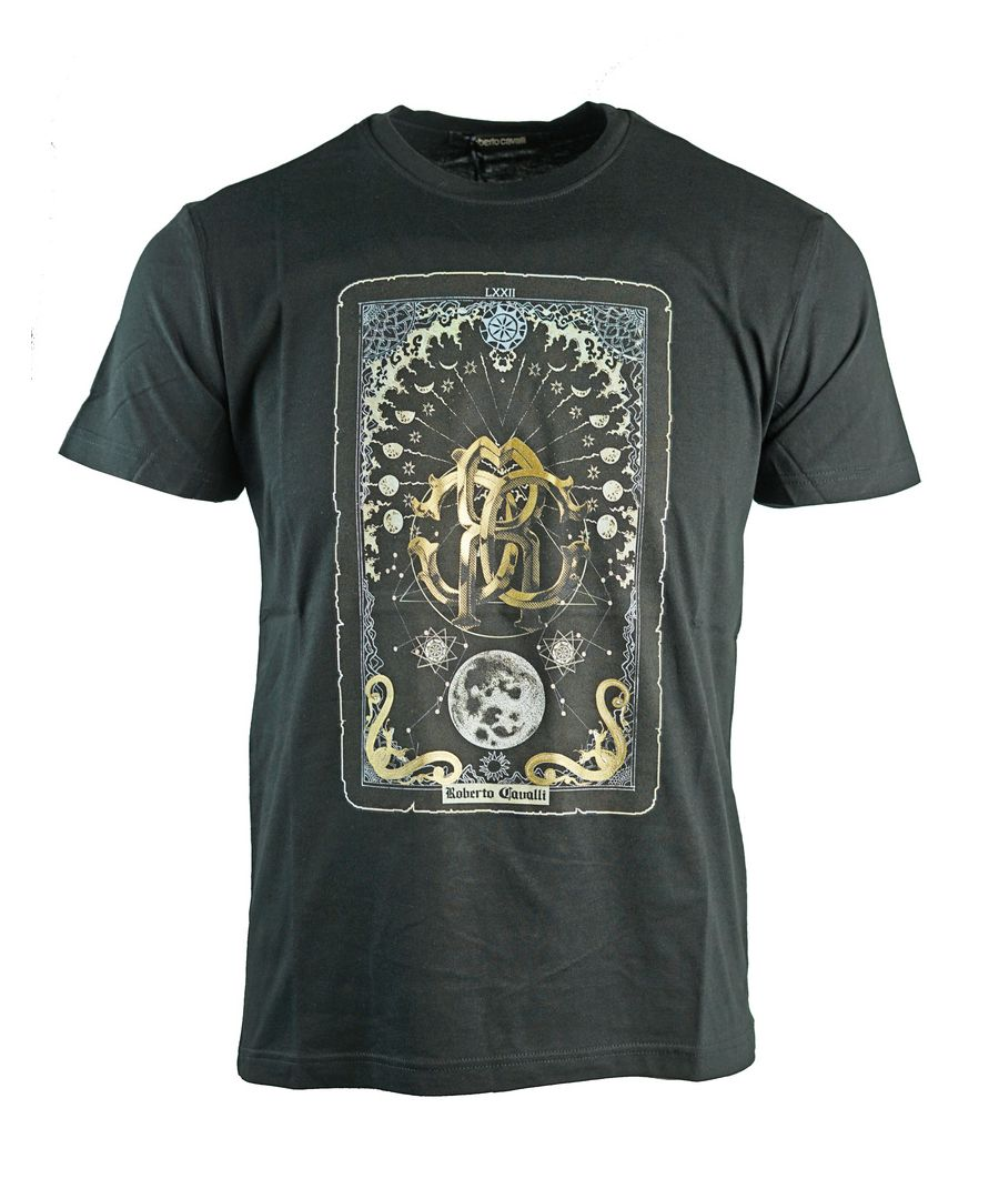 Image for Roberto Cavalli Card Logo Black T-Shirt