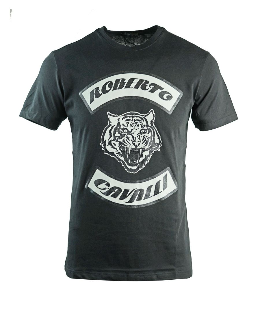 Image for Roberto Cavalli Tiger Head Black T-Shirt