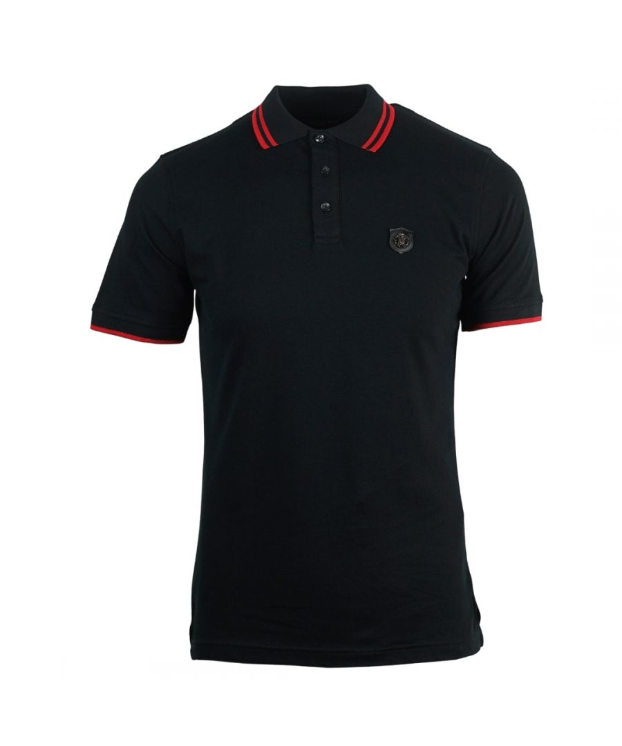 Image for Roberto Cavalli Shield Logo Black Polo Shirt