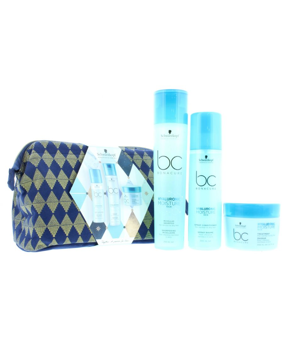 Image for 2 x Schwarzkopf Professional Bonacure Hyaluronic 4 Piece Gift Set