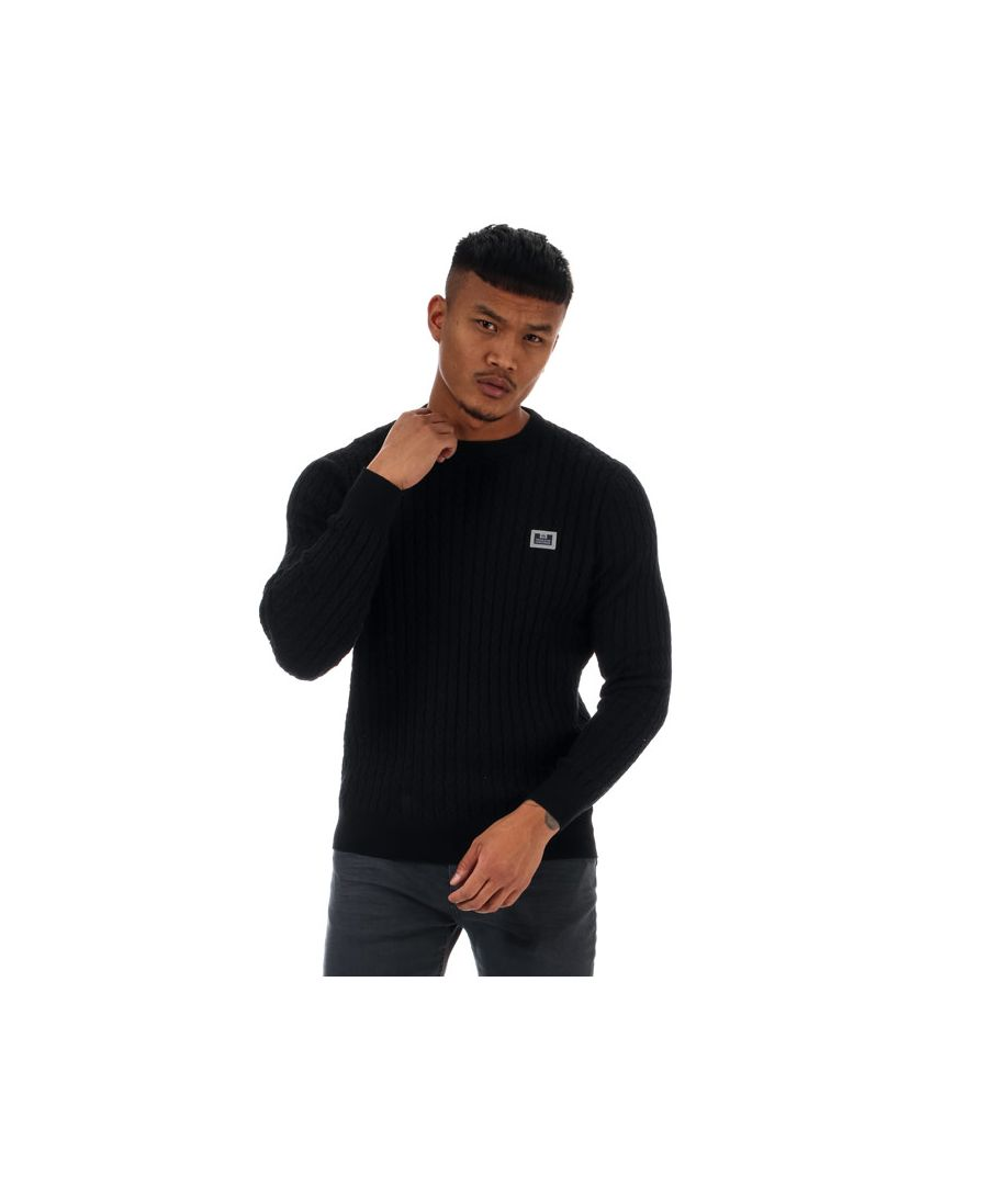 Image for Men's Weekend Offender Burnham Cotton Cable Knit in Black