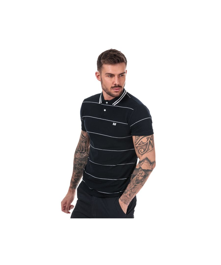 Image for Men's Weekend Offender Milano Fine Striped Polo Shirt in Navy