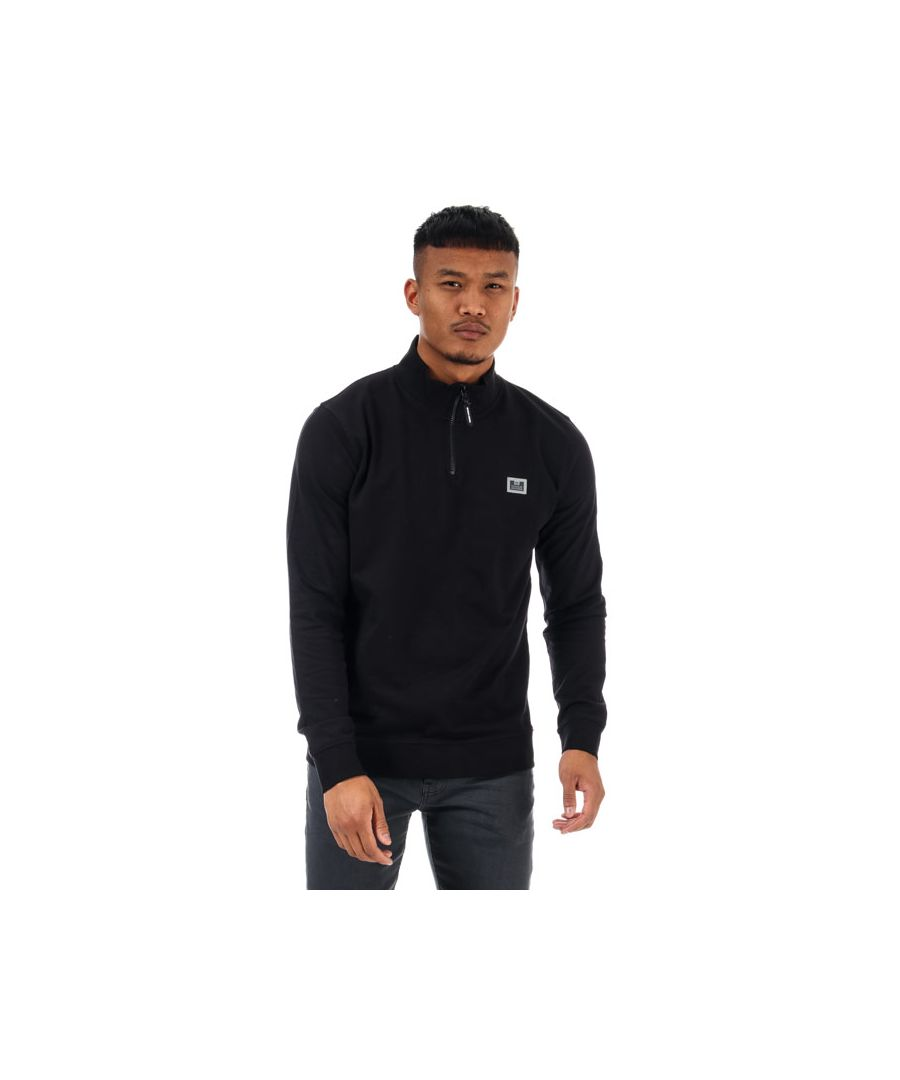 Image for Men's Weekend Offender Singha Half Zip Sweat in Black