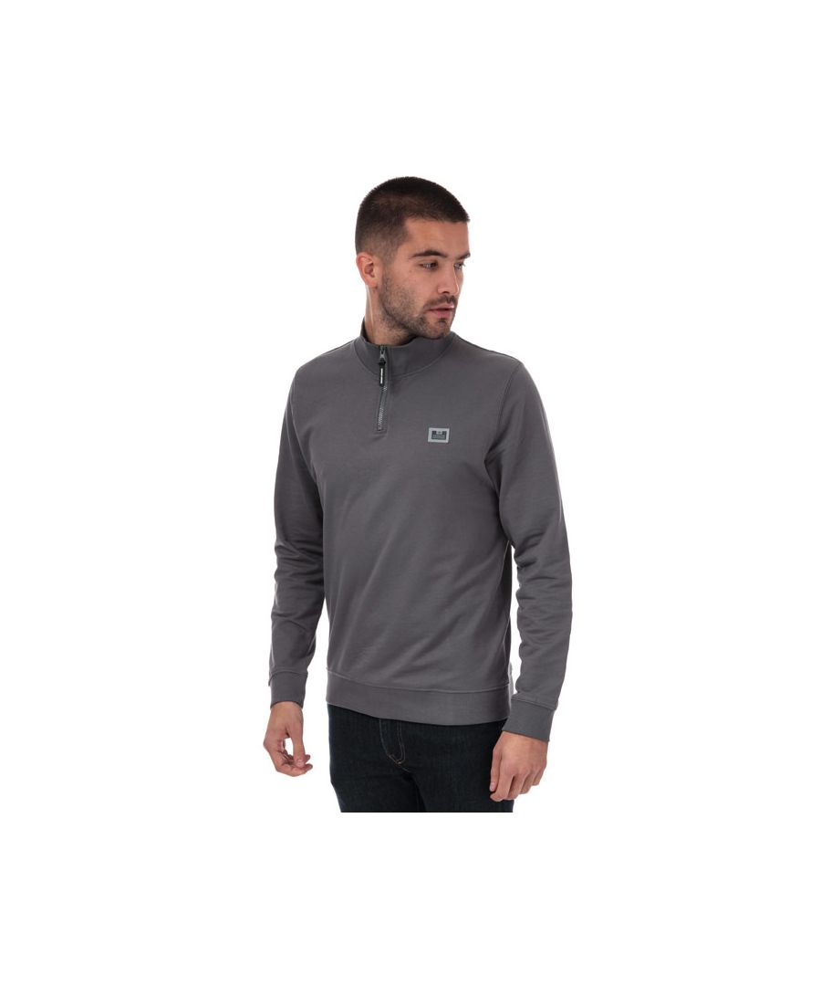Image for Men's Weekend Offender Singha Half Zip Sweat in Charcoal