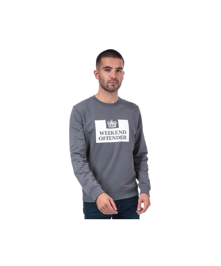 Image for Men's Weekend Offender Birra Logo Crew Sweat in Grey