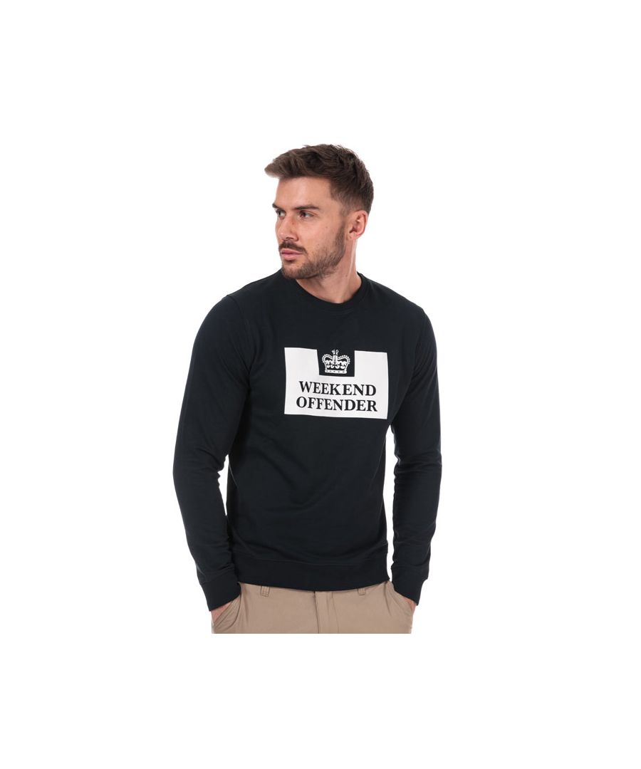 Image for Men's Weekend Offender Birra Crew Sweat in Navy
