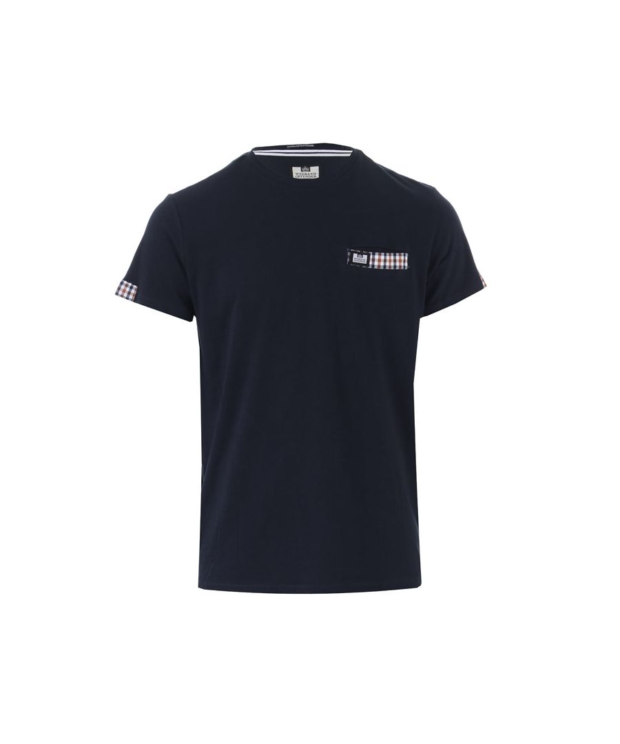Image for Men's Weekend Offender Verona Woven Pocket T-Shirt in Navy