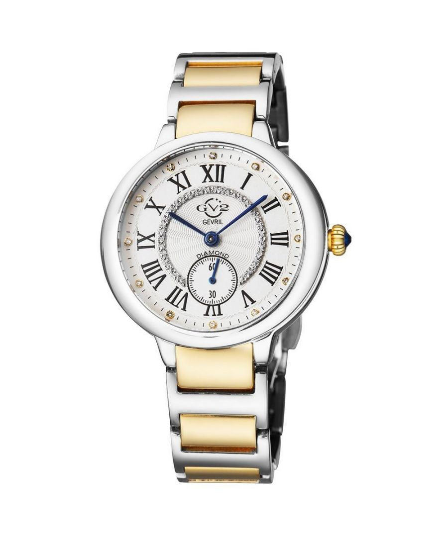 Image for GV2 Rome Womens Silver Dial  Two Tone Yellow Gold Bracelet Watch