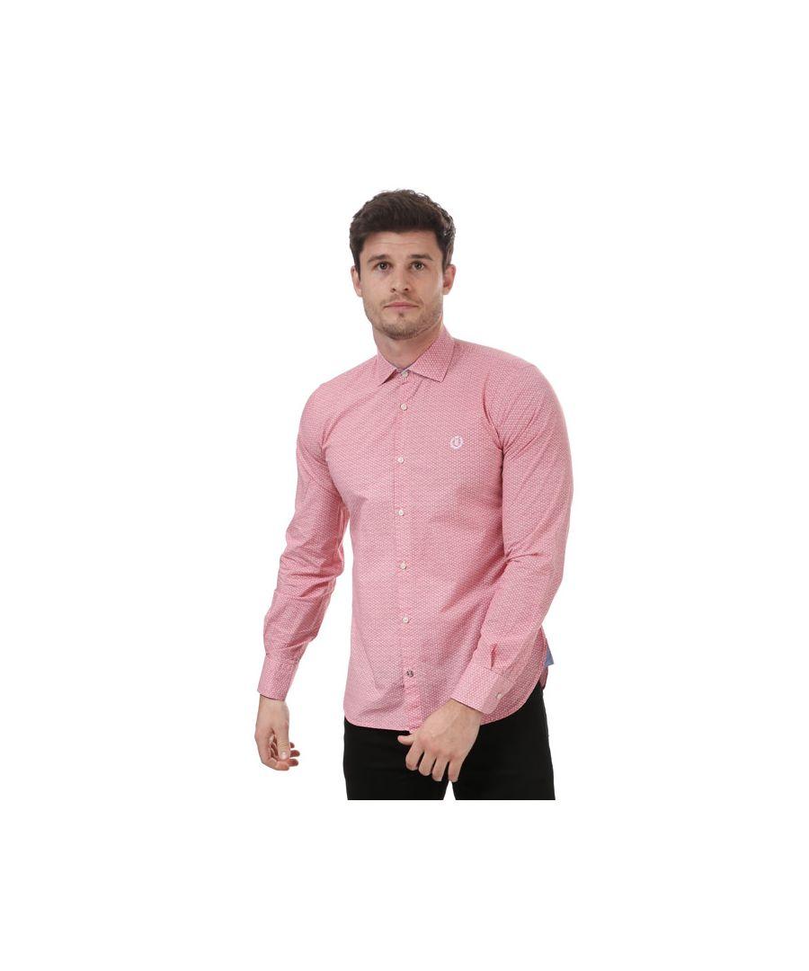 Image for Men's Henri Lloyd Slim Fancy Cotton Shirt in Red