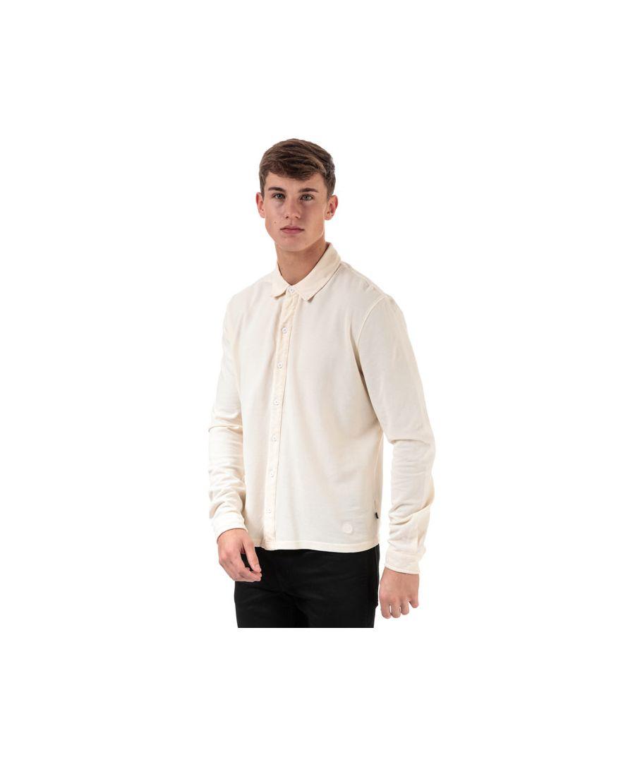 Image for Men's Henri Lloyd Cotton Piquet Long Sleeve Shirt in White