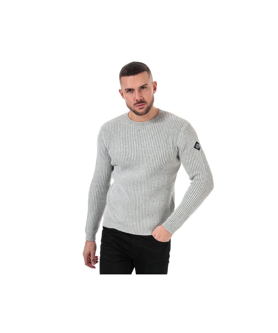 Image for Men's Henri Lloyd Wool Mix Round Neck Jumper in Grey