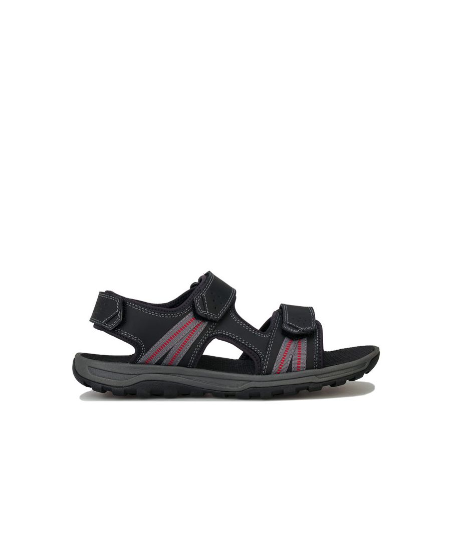 Image for Men's Rockport Trail Technique 3 Strap Sandal in Black